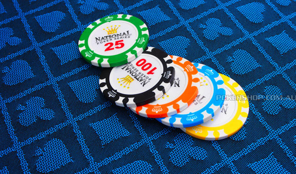500pce National Poker Series 13.5g Chip set (Premium Clay)