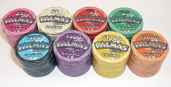 500 x Palmas Resort Casino chips 10g