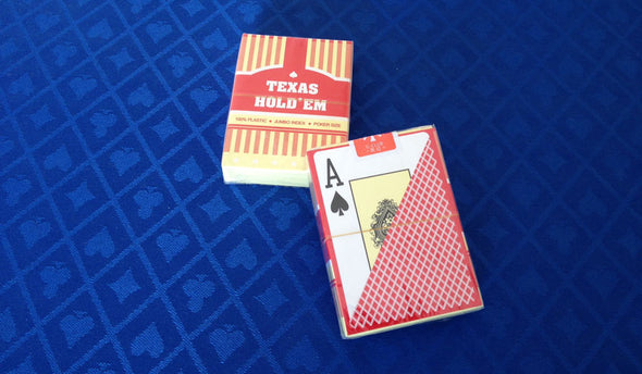 Texas Holdem 100% Plastic playing cards RED or BLUE