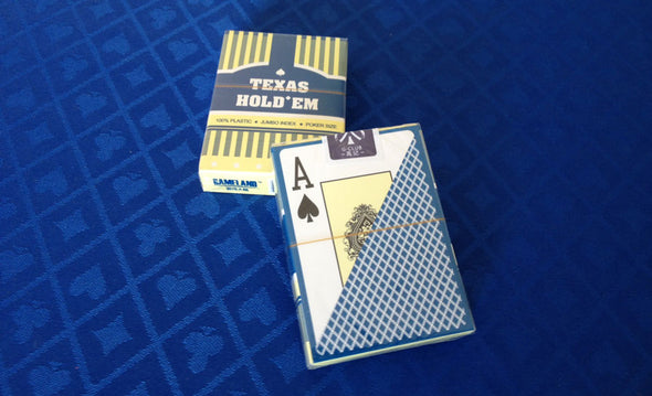 144 x Texas Holdem 100% Plastic playing cards
