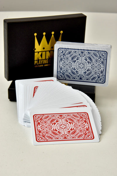 KING Playing cards Prestige 2 Pack 100% Plastic (Poker/Jumbo)