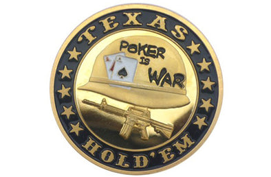 Gold Poker Card Guard - POKER IS WAR