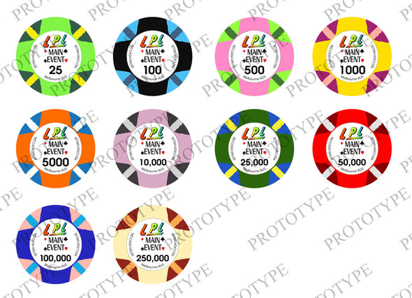 500 x 10g Custom World Poker Series chips