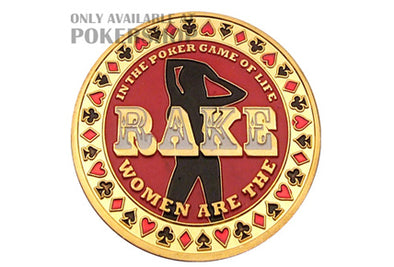 Gold Poker Card Guard - THE RAKE