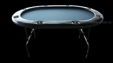 "65"" Roval Blue poker table"