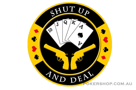 Gold Poker Card Guard - SHUT UP & DEAL
