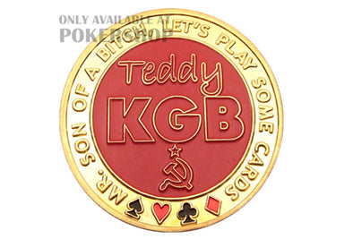 Gold Poker Card Guard - TEDDY KGB