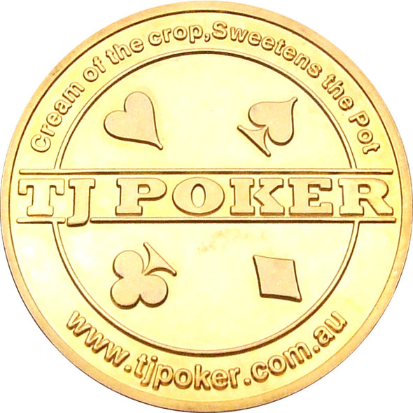 "500 x CUSTOM ""YOUR BRANDING/DESIGN"" Gold Poker Card Guards"