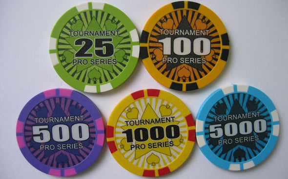 1000pce Tournament Pro 13.5g Chip set (Premium Clay)