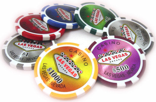 500pce Las Vegas Laser Poker Chip set