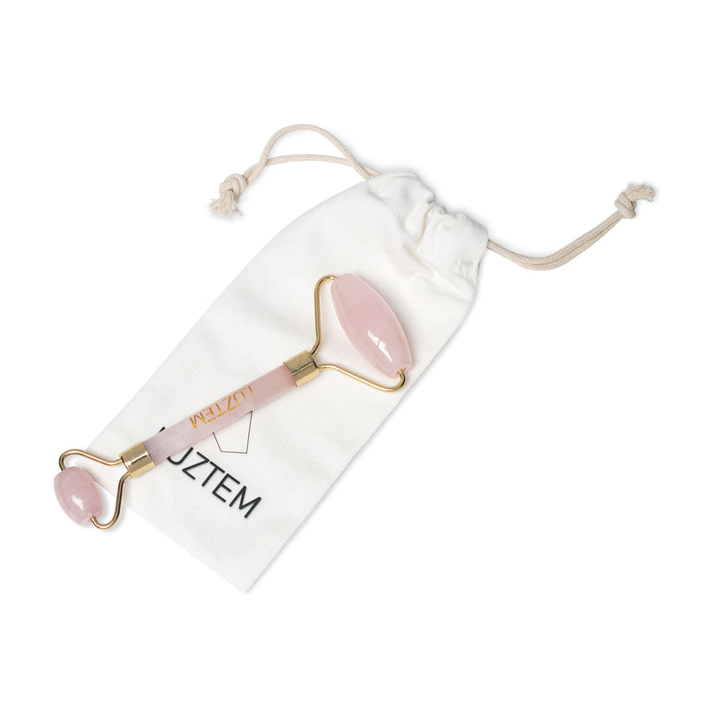 ROSE QUARTZ CRYSTAL MASSAGE ROLLER