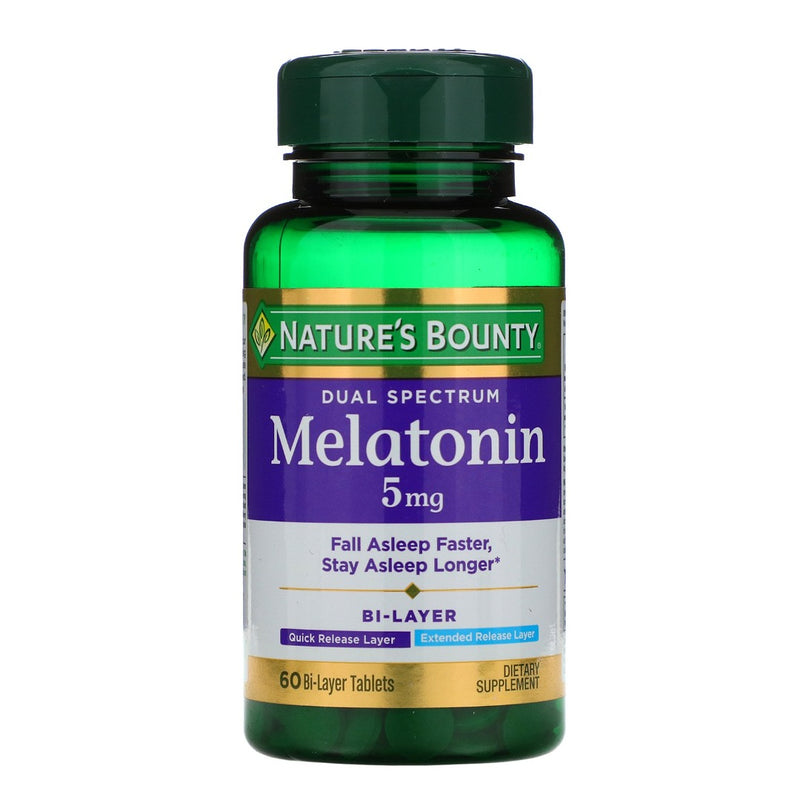 Nature's Bounty - Dual Spectrum Melatonin 5 mg | Beauty Box Mérida