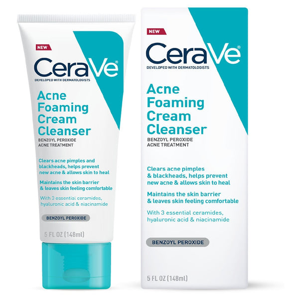 CeraVe México - Acne Foaming Cream Cleanser | Beauty Box Mérida