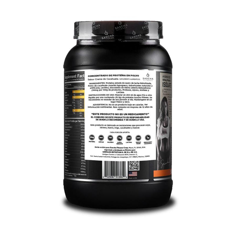 Hydrolyzed Whey Protein Isolate Peanut Butter