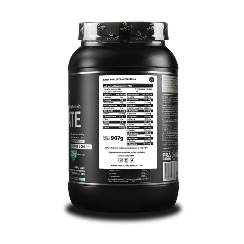 Hydrolyzed Whey Protein Isolate Cookies & Cream