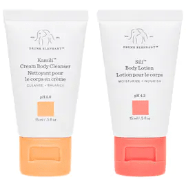 Kamili Cream Body Cleanser trial size + Sili Body Lotion trial size - 15 mL