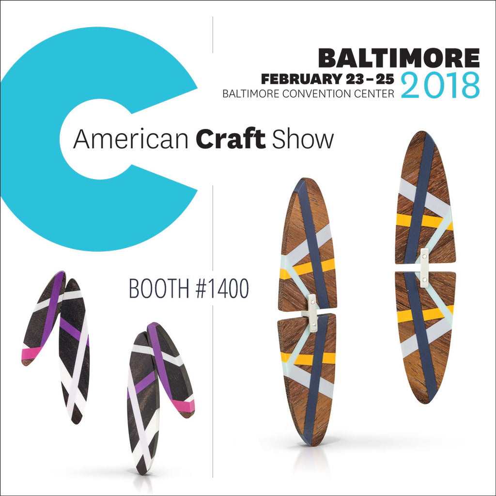 Laura Jaklitsch Jewelry at the American Craft Council Baltimore Show 2018