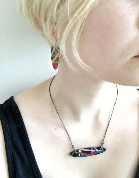Wearing Wood Jewelry by Laura Jaklitsch Jewelry