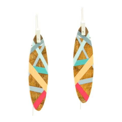Laura Jaklitsch Jewelry Wood x Polyurethane Island Earrings