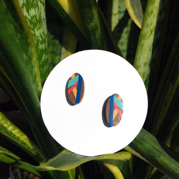 Bird of Paradise Stud Earrings