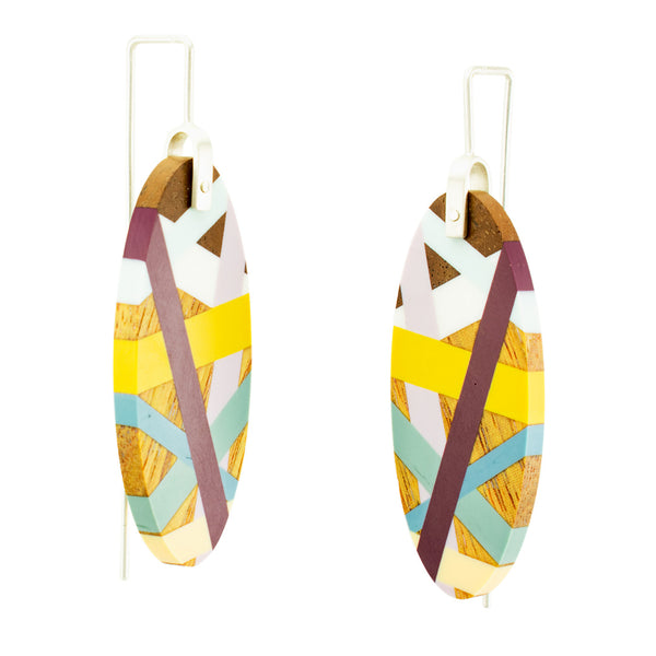 Desert Bloom Large Oval Earrings Side View