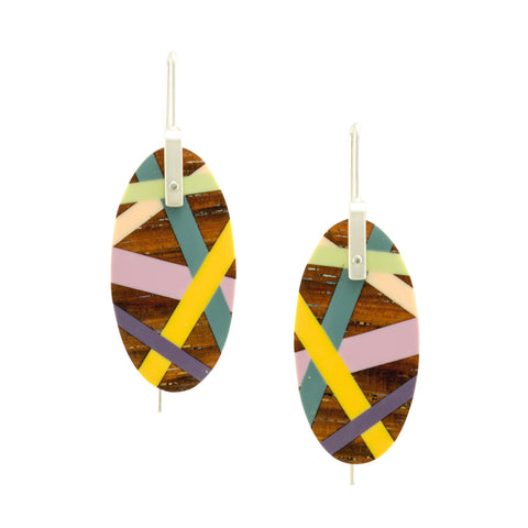Laura Jaklitsch Jewelry Wood x Polyurethane Desert Rose East Indian Rosewood Earrings