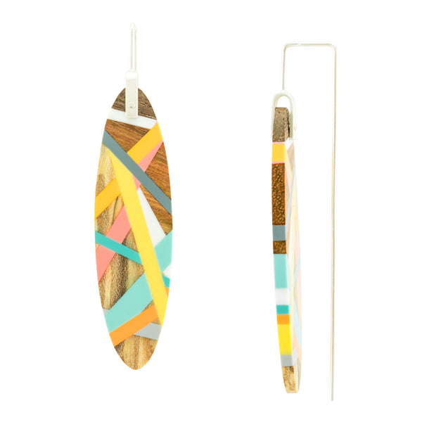 Laura Jaklitsch Jewelry Wood and Polyurethane Meyer Lemon Earrings