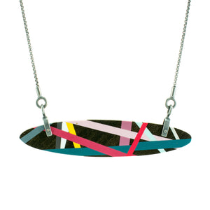 Laura Jaklitsch Jewelry Wood x Polyurethane Ebony Mini Hardware Necklace
