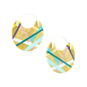 Maple Wood Hoop Earrings with Polyurethane Inlay