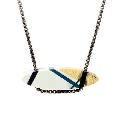 Laura Jaklitsch Jewelry Wood x Polyurethane Monochromatic Bar Necklace
