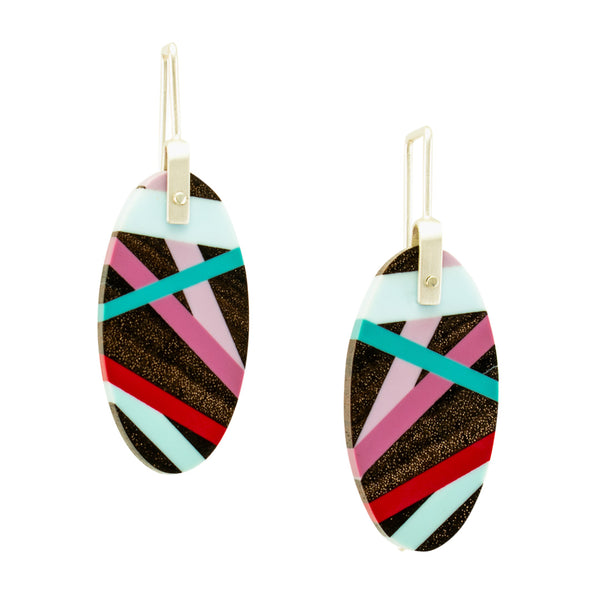 Wood Inlay Earrings
