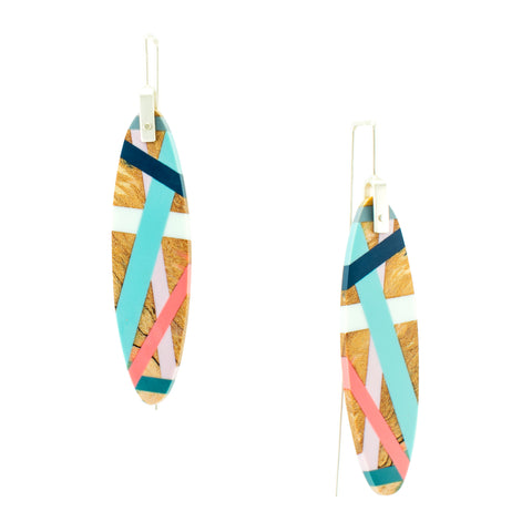 Laura Jaklitsch Jewelry Wood x Polyurethane Spalted Maple Earrings