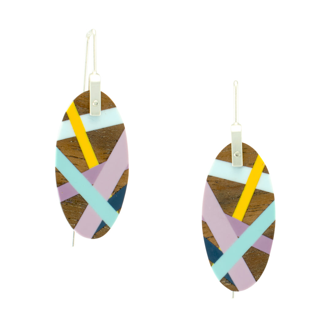 Laura Jaklitsch Jewelry Wood x Polyurethane Sunrise Earrings