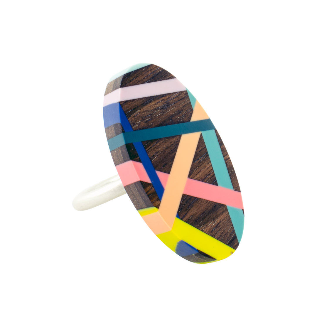 Laura Jaklitsch Jewelry Wood x Polyurethane Tropical Ring