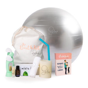 The Birth Deck by Glow, The Birth Kit by Glow, and The Birth Ball by Glow