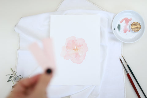 Watercolor Pfingsrose