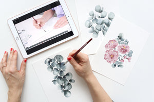 Floral Watercolor Onlineworkshop in Deutsch