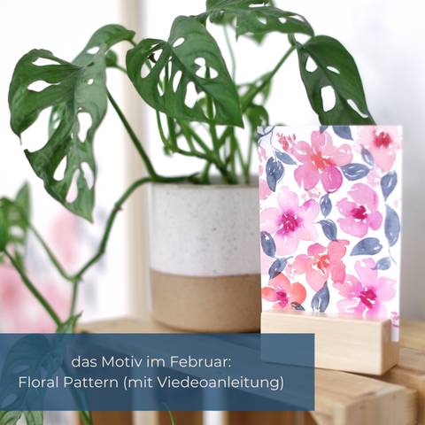 Florales Watercolor Pattern mit Anleitung