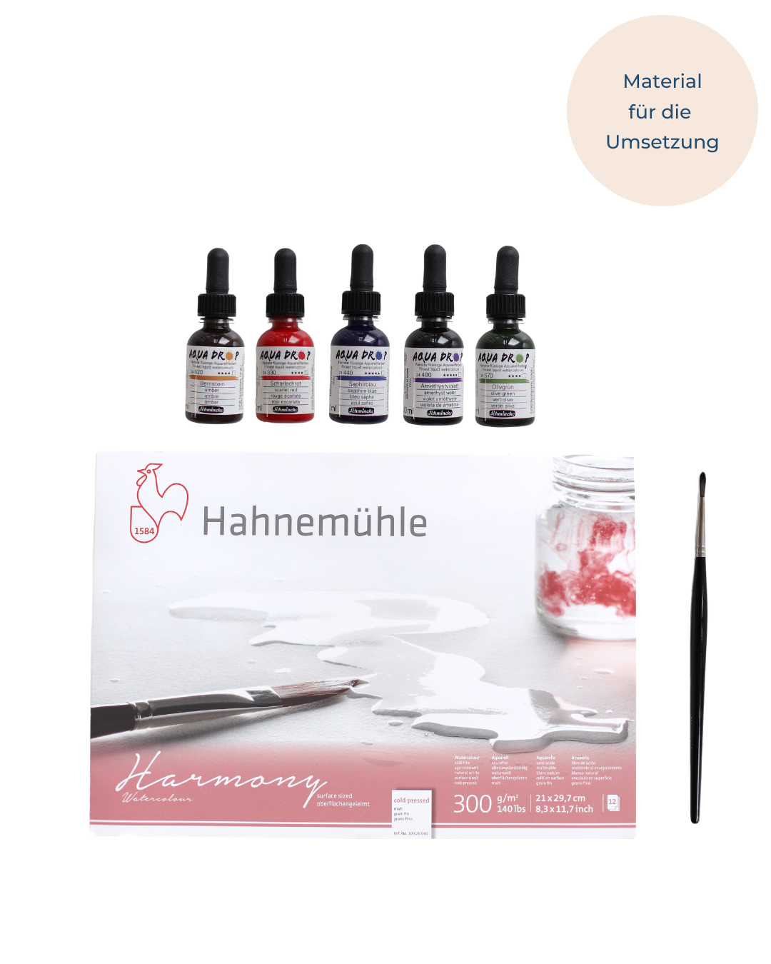 Watercolor Set für Aquarell Wildblumen