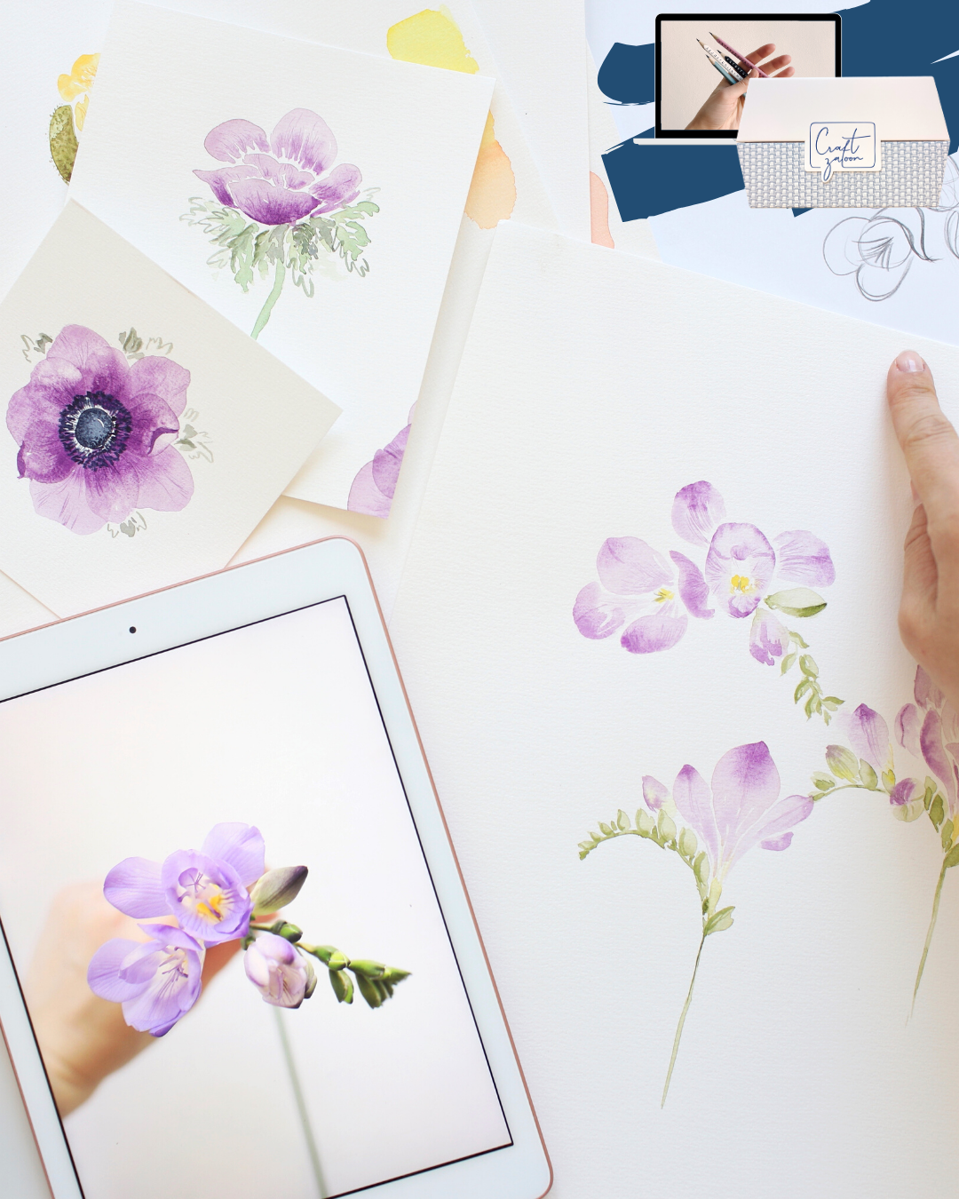 Floral Watercolor Online Workshop