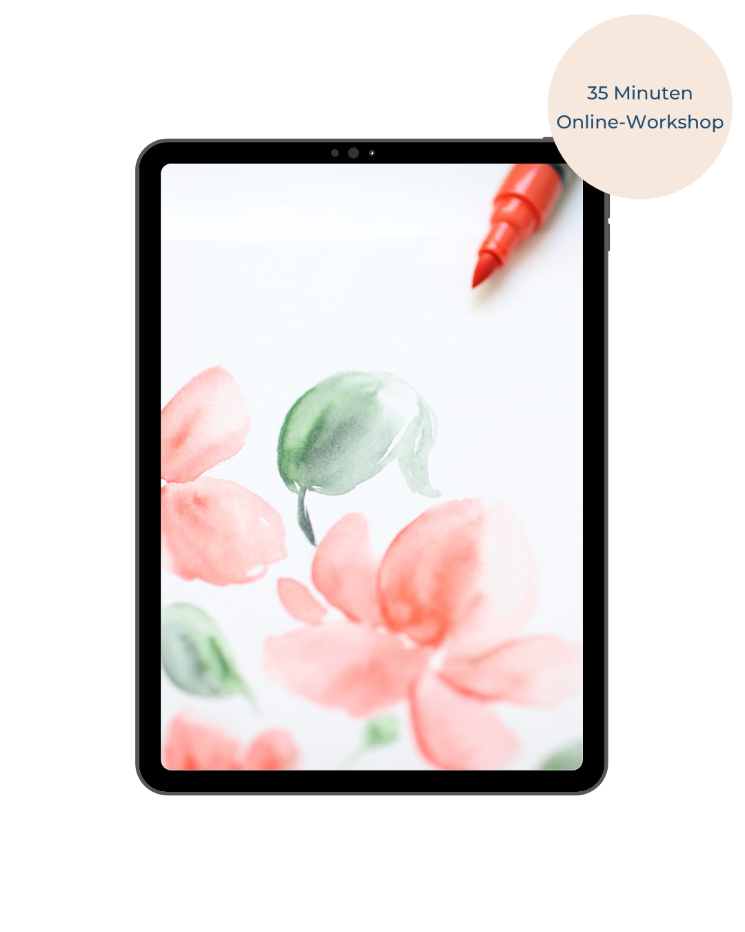 Watercolor Floral Online-Workshop mit Brushpens