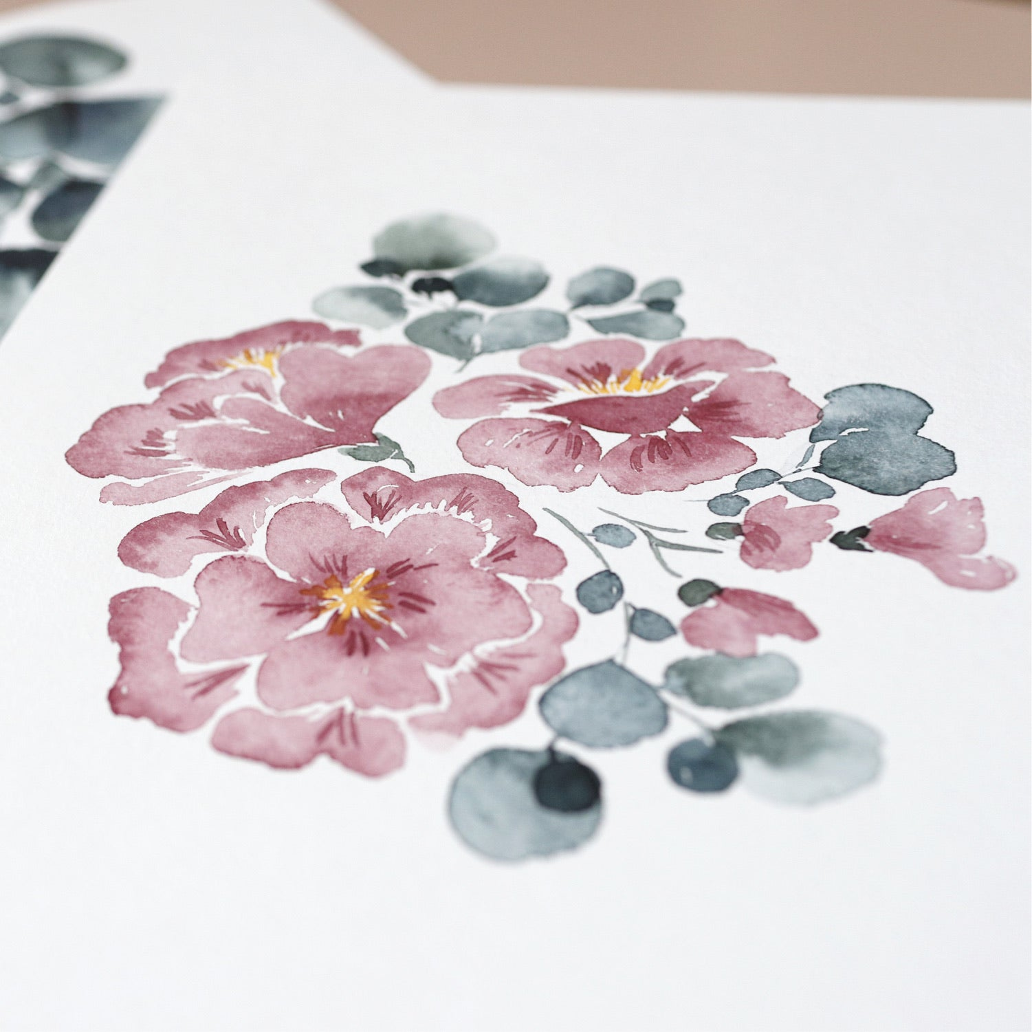 Online-Workshop ohne Material: Watercolor Eukalyptus-Bloom