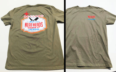 Meat Heads Las Vegas Sign Short Sleeved Shirt