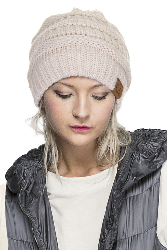 CC Knit Beanie - EmmyLou Boutique