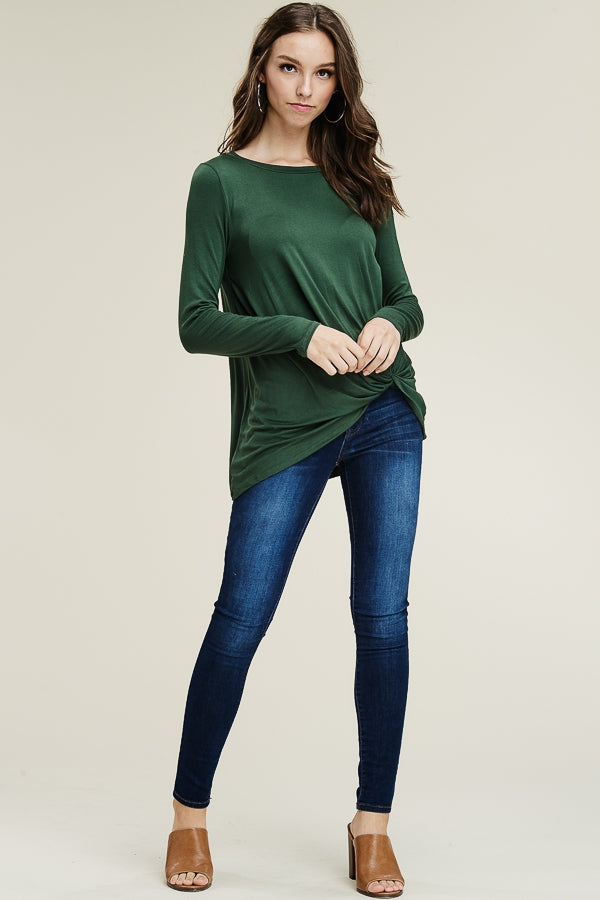 Twisted Solid Top - EmmyLou Boutique