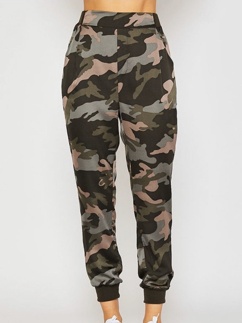 Camo Print Tapered Pants