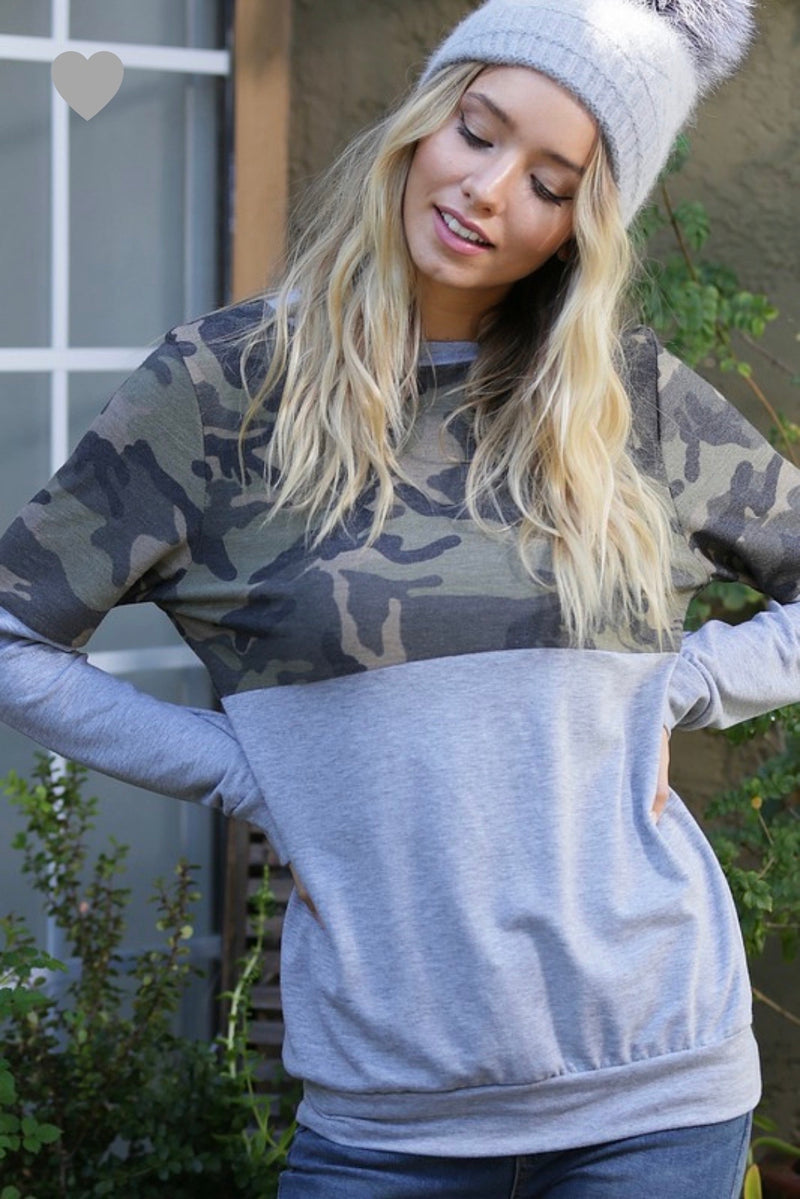 Grey Camo Sweatshirt