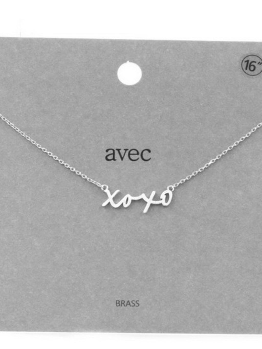XOXO Pendant Necklace