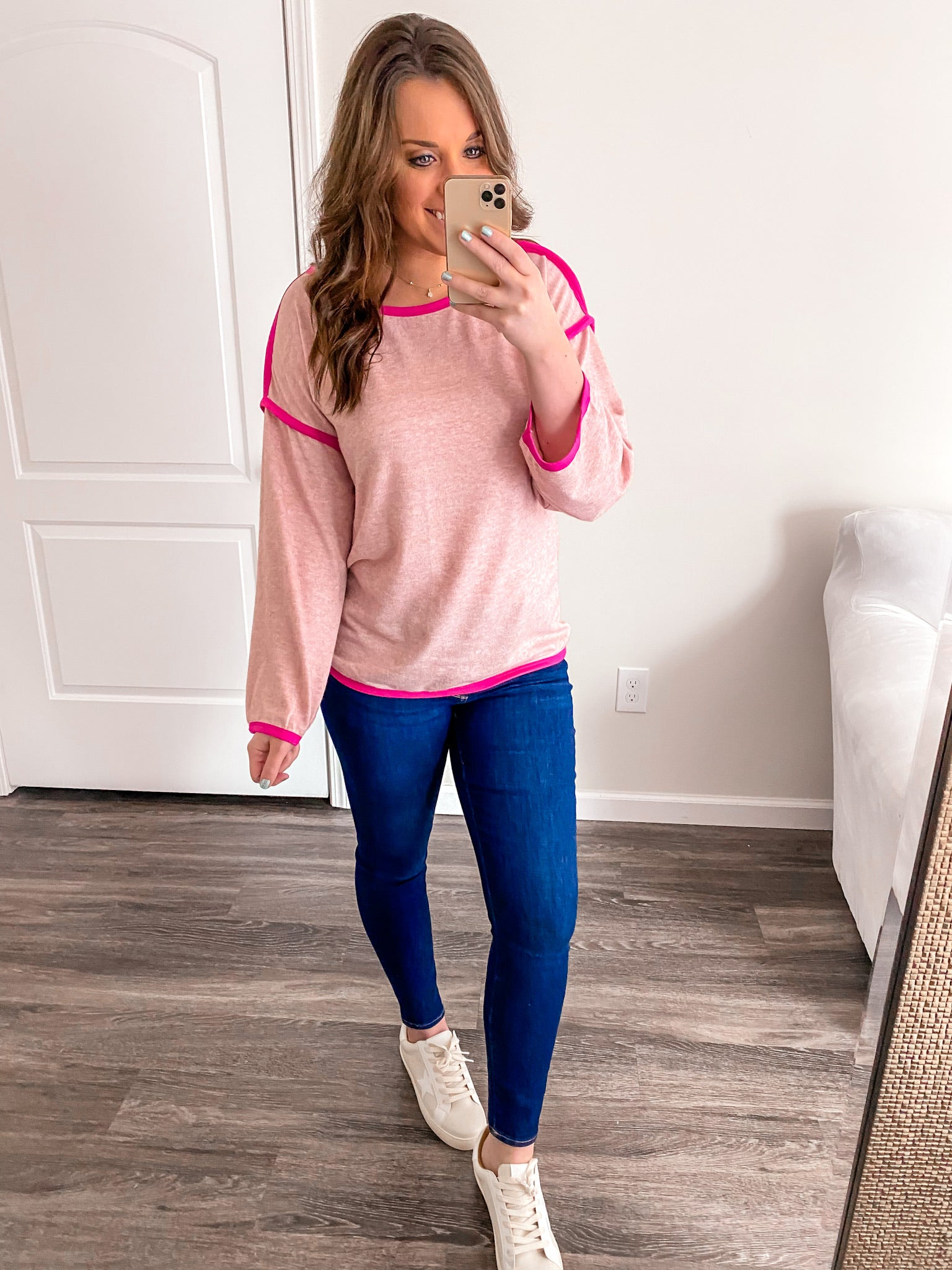 Pink/Fuchsia Two Tone Top