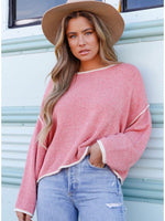 Two-Toned Pink Sweater